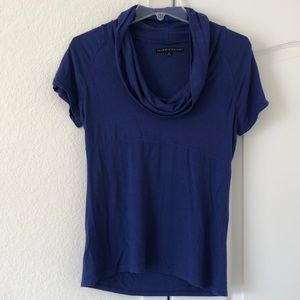 Cowled Neck Short Sleeved Top